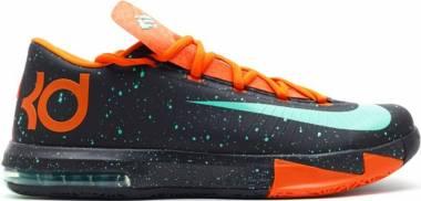 Nike KD 6 Black, Green Glow-urban Orange Men