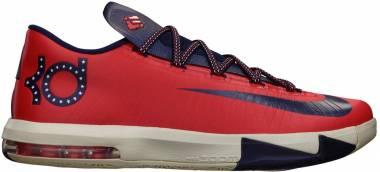 Nike KD 6 - Light Crimson, Blue, White