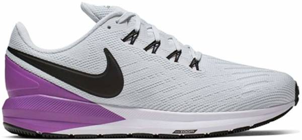 Nike Air Zoom Structure 22 - Pure Platinum / Black / Hyper Violet / White