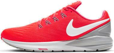 Nike Air Zoom Structure 22 - Laser Crimson White Lt Smoke Grey Photon Dust (AA1636601)