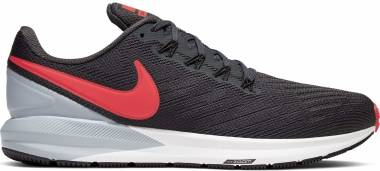 Nike Air Zoom Structure 22 - Multicolor Anthracite Bright Crimson Wolf Grey 010 (AA1636010)