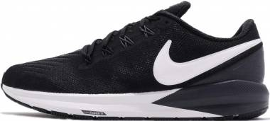 Nike Air Zoom Structure 22 - Black Black White Gridiron 002 (AA1636002)