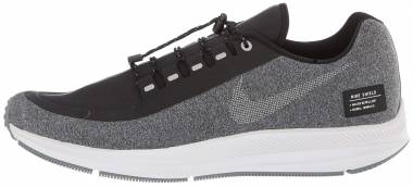 Nike Air Zoom Winflo 5 Run Shield - Black Black Mtlc Silver Cool Grey Vast Grey 001 (AO1572001)