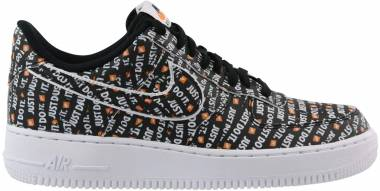 Nike Air Force 1 07 LV8 JDI - Mehrfarbig Black Black White Total Orange 001 (AO6296001)