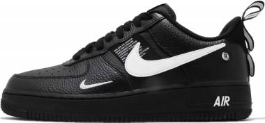 Nike Air Force 1 07 LV8 Utility - Black Black White Black Tour Yellow 001 (AJ7747001)