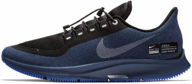 Nike Air Zoom Pegasus 35 Shield Black/Metallic Silver/Blue Void Men