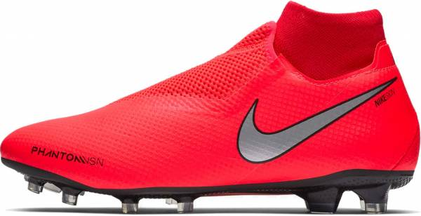 Nike Phantom VSN Pro Dynamic Fit Firm Ground - Multicolour Bright Crimson Metallic Silver 600
