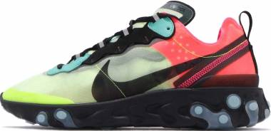 Nike React Element 87 - Volt/Aurora Green-racer Pink (AQ1090700)