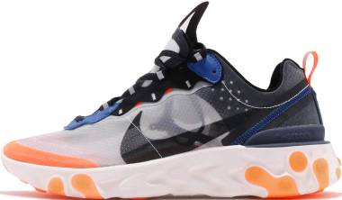 Nike React Element 87 Wolf Grey, Black-thunder Blue Men