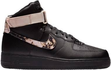 Nike Air Force 1 High Print - Black/White-particle Beige