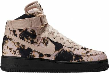 Nike Air Force 1 High Print - Particle Beige/Black/Acid Wash Print