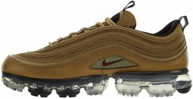 Nike Air VaporMax 97 - Metallic Gold Varsity Red