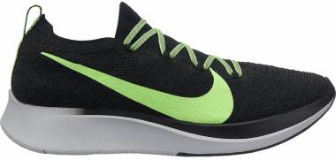 a82eaa966e5e8 Nike Zoom Fly Flyknit Black Lime Blast-vast Grey Men