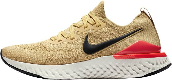 0eb1d04d249 Nike Epic React Flyknit 2 Club Gold Metallic Gold Black Red Orbit