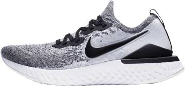 Nike Epic React Flyknit 2 - Multicolore White Black Pure Platinum 000