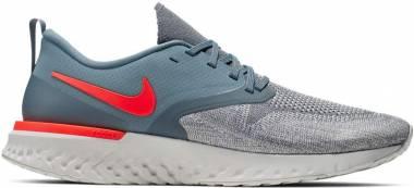 Nike Odyssey React Flyknit 2 - Armory Blue/Bright Crimson-vast Grey (AH1015403)