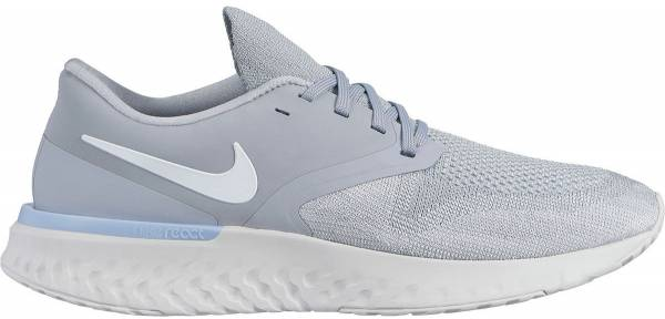 cheaper f3e07 b07de Nike Odyssey React Flyknit 2 Wolf Grey White Platinum Tint Light Armory Blue