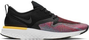 Nike Odyssey React Flyknit 2 - Multicolore Black Black University Red Hyper Jade 5 (AH1015005)