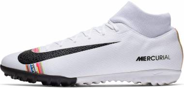 Nike CR7 SuperflyX 6 Academy Turf - White/Black/Pure Platinum (AJ3568109)
