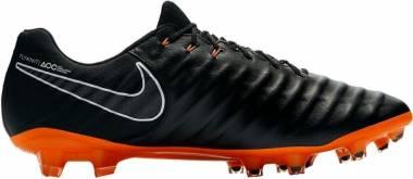 Nike Legend 7 Elite Firm Ground - Nero (Black/Black/White/Total Orange 080)