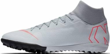 Nike SuperflyX 6 Academy Turf - Grey Wolf Grey Lt Crimson Pure Plat 060 (AH7370060)