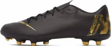 Nike Vapor 12 Academy Multi-Ground - Schwarz Black Mtlc Vivid Gold 077