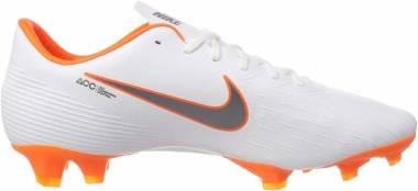 Nike Vapor 12 Pro Firm Ground - White/Total Orange/Metallic Cool Grey/Metallic (AH7382107)