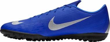 Nike VaporX 12 Academy Turf - Multicolour Racer Blue Metallic Silver Black Volt 400 (AH7384400)