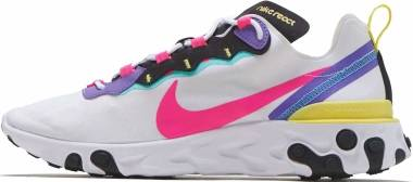 Nike React Element 55 - White/Hyper Pink-black-psychic Purple (CK0846100)
