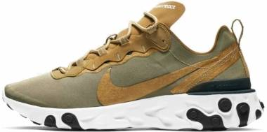 Nike React Element 55 - Metallic Gold/White/White/Black (BQ6166700)
