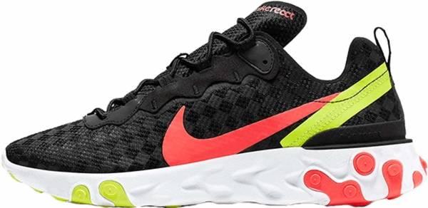 Nike React Element 55 - Black/Flash Crimson (CJ0782001)