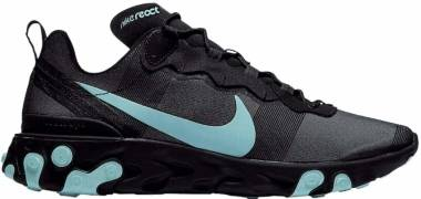 Nike React Element 55 - Black, Aurora Green-cool Grey
