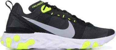 Nike React Element 55 Black, Wolf Grey-volt-white Men