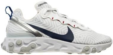 Nike React Element 55 - White Midnight Navy Bright Blue (CW7576100)
