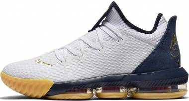 Nike LeBron 16 Low - White Metallic Gold Midnight Navy