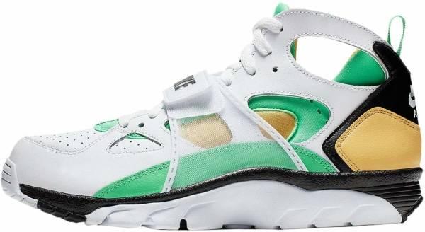 Nike Air Trainer Huarache - White/Electro Green-topaz Gold-black