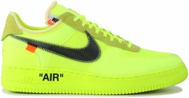 Off-White x Nike Air Force 1 Low - Volt/Cone-black-hyper Jade (AO4606700)
