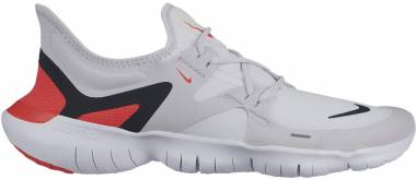 Nike Free RN 5.0 - Multicolour Vast Grey Black White Bright Crimson 000 (AQ1289004)
