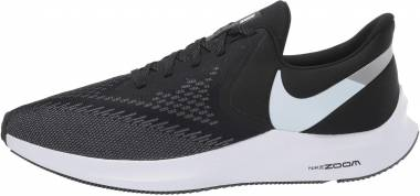 Nike Air Zoom Winflo 6 - Black Black White Dk Grey Mtlc Platinum 001 (AQ7497001)