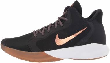 Nike Precision 3 - Nero Black Mtlc Copper Thunder Grey Gum Med Brown White 006 (AQ7495006)