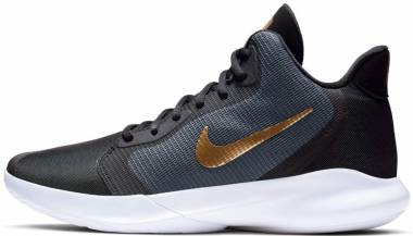 Nike Precision 3 - Dark Grey/Metallic Gold-white