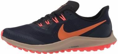 Nike Air Zoom Pegasus 36 Trail - Obsidian Magma Orange Black Laser Crimson Khaki (AR5677403)