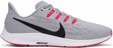 Nike Air Zoom Pegasus 36 - Wolf Grey / Black / White / Bright Crimson