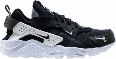 Nike Air Huarache Run Premium Zip - Black / White