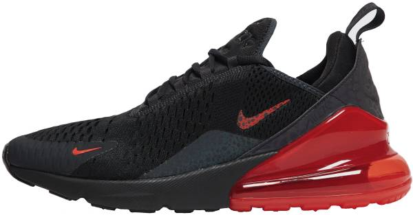 red and black air max 270