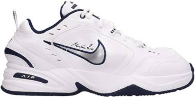 Nike x Martine Rose Air Monarch IV - White/Metallic Silver-midnight Navy (AT3147100)