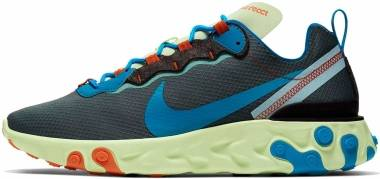 Nike React Element 55 SE - Volt/Blue Stardust-dark Grey (CT1142700)
