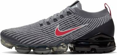 Nike Air Vapormax Flyknit 3 - Particle Grey Black Iron Grey University Red (AJ6900012)