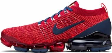 Nike Air Vapormax Flyknit 3 - Noble Red/Light Armory Blue/Hyper Crimson/Blue Void