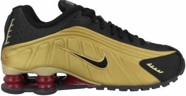 Nike Shox R4 - Black Black Metallic Gold Noble Red